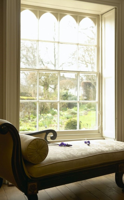 Chawton cottage - view out window cropped